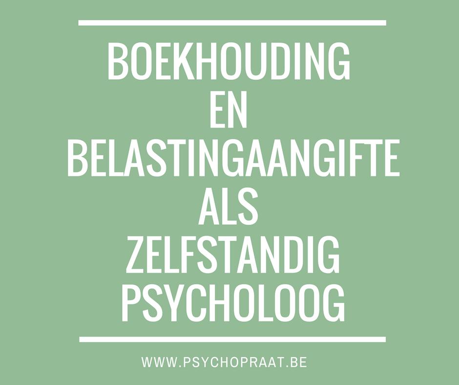 Boekhouding en belastingaangifte als zelfstandig psycholoog
