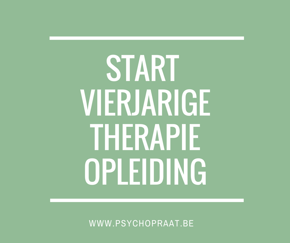 Start vierjarige therapie-opleiding