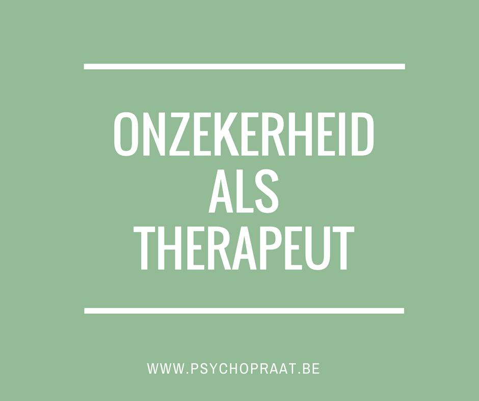 onzekerheid als therapeut